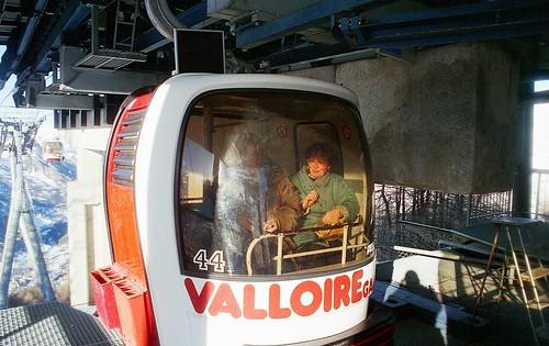 France, l'un des Télébabines de Valloire-Galibier en Savoie