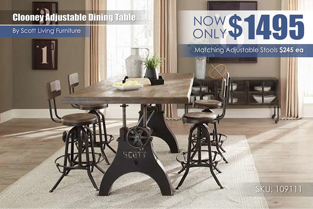 Clooney Scott Living Dining Adjustable Table_109111