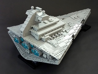Lego MOC - Midi-scale Mark II Imperial Star Destroyer | by Rubblemaker