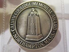 1984 Calvin Coolidge Memorial Award Medal reverse