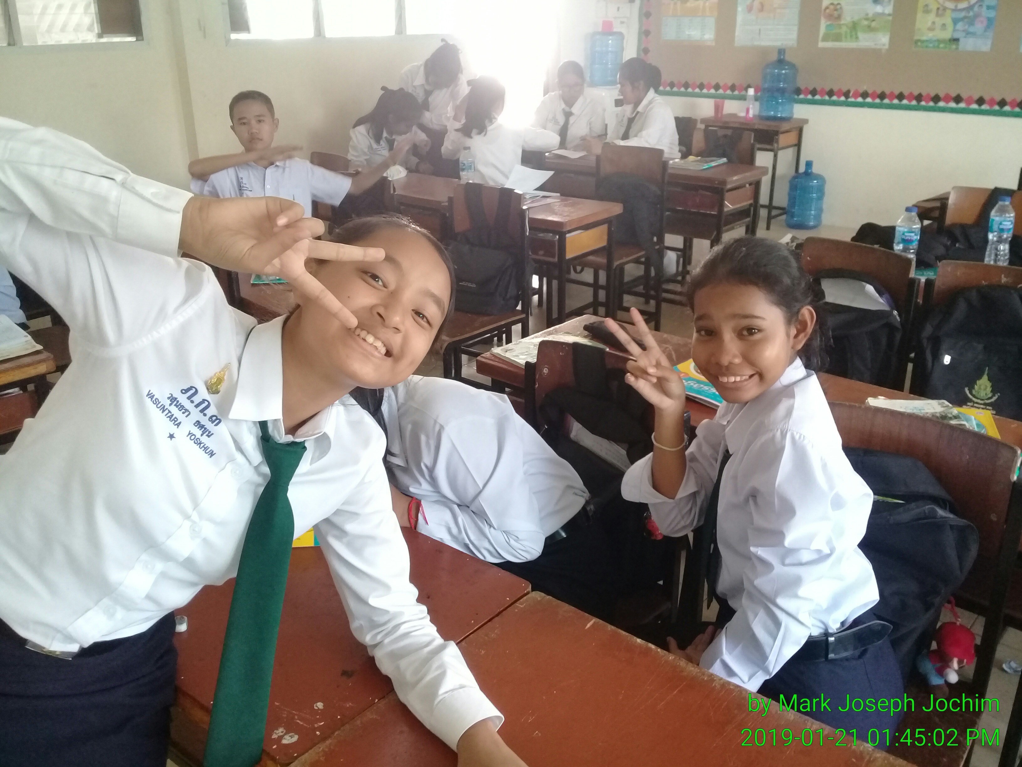Students in Class M1/2 at Plukpanya Municipal School in Phuket, Thailand. Photo taken on January 21, 2019.
