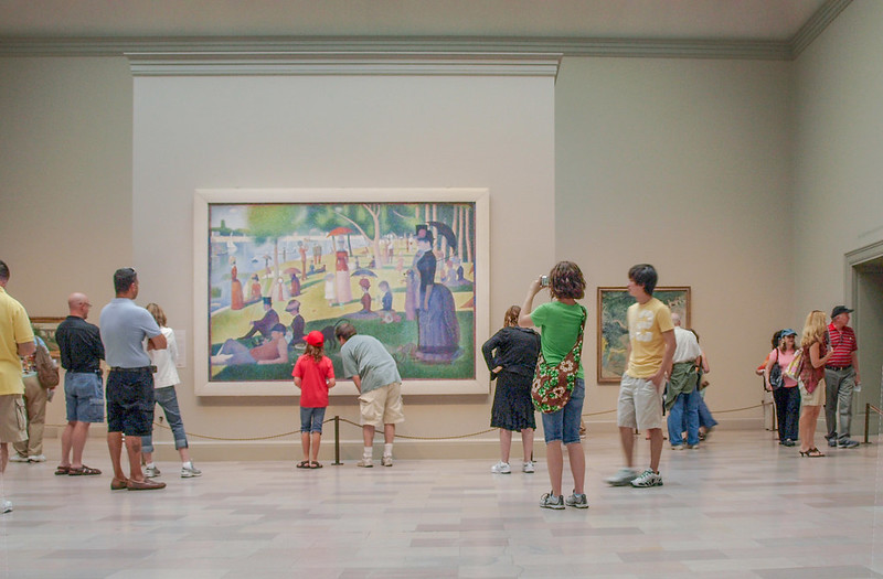 Looking at A Sunday Afternoon on the Island of La Grande Jatte