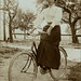 Lady on a bicycle
