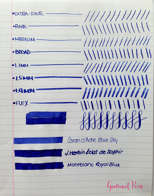 Caran d'Ache Blue Sky Ink 3