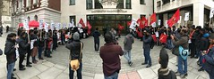Tamils protest outside Westminster Magistrates Court