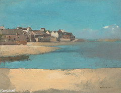 Village by the Sea by Odilon Redon