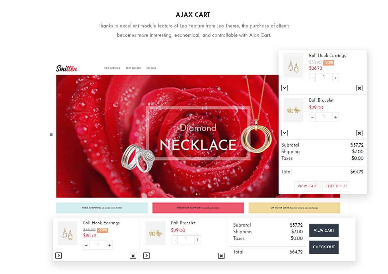 Ajax cart - Leo Smitten Jewelry Store Prestashop theme