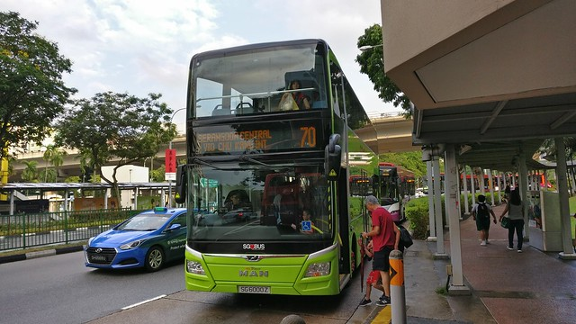 SG6000Z on SBS Transit Bus Service 70