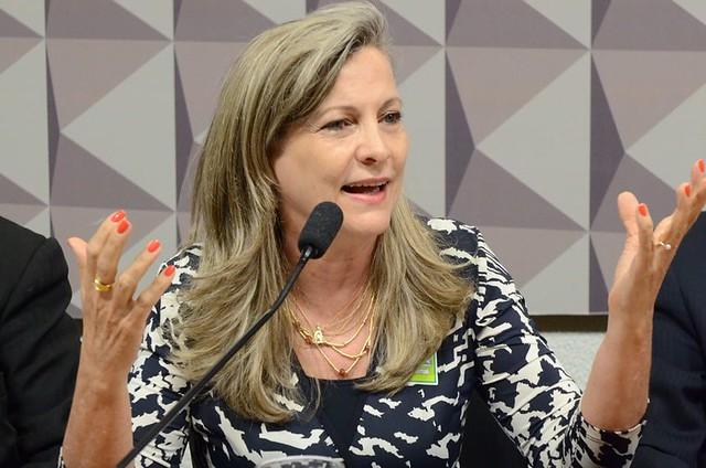 Maria Lucia Fatorelli durante audiência pública no Senado Federal, em Brasília (DF) - Créditos: Ana Volpe/Agência Senado