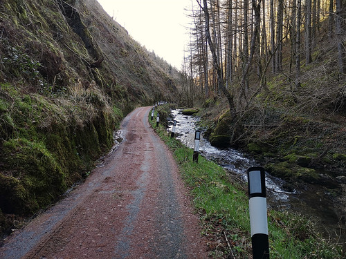 Narrow scary road!