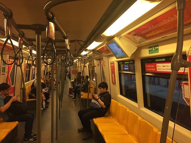 Onboard the BTS Skytrain