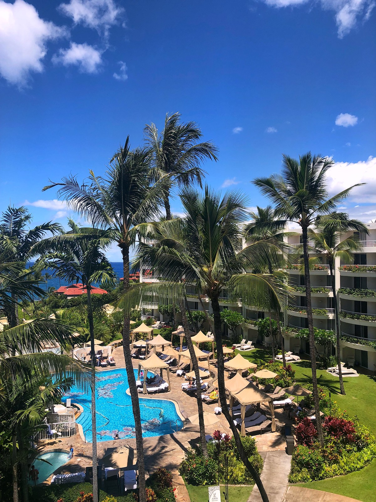 Balcony View Hotel Pool Fairmont Kea Lani BEST Hotel in Maui Where to Stay on Maui Hawaii