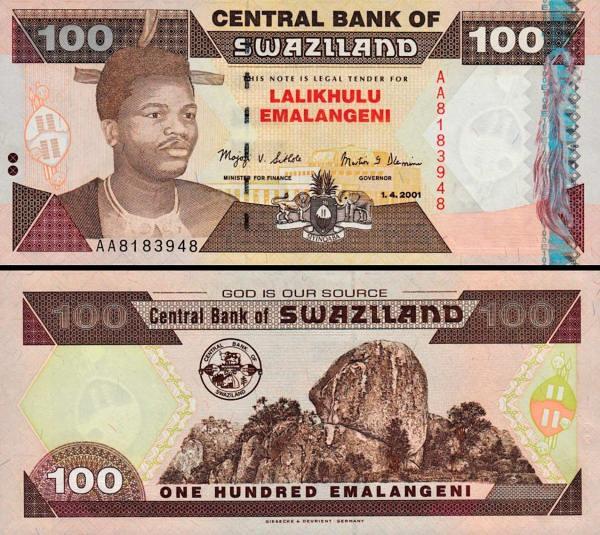 100 Emalageni Swaziland 2001, P32a