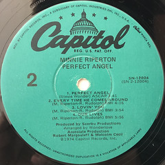 MINNIE RIPERTON:PERFECT ANGEL(LABEL SIDE-B)