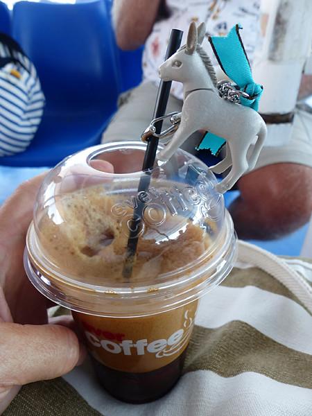 l'âne et le café