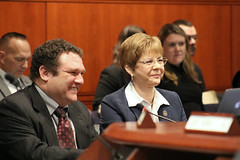 Rep. Zawistowski and local business owner Terrence Plakias testify in support of HB 7107 An Act Concerning the Theft of Waste Vegetable Oil or Animal Fats