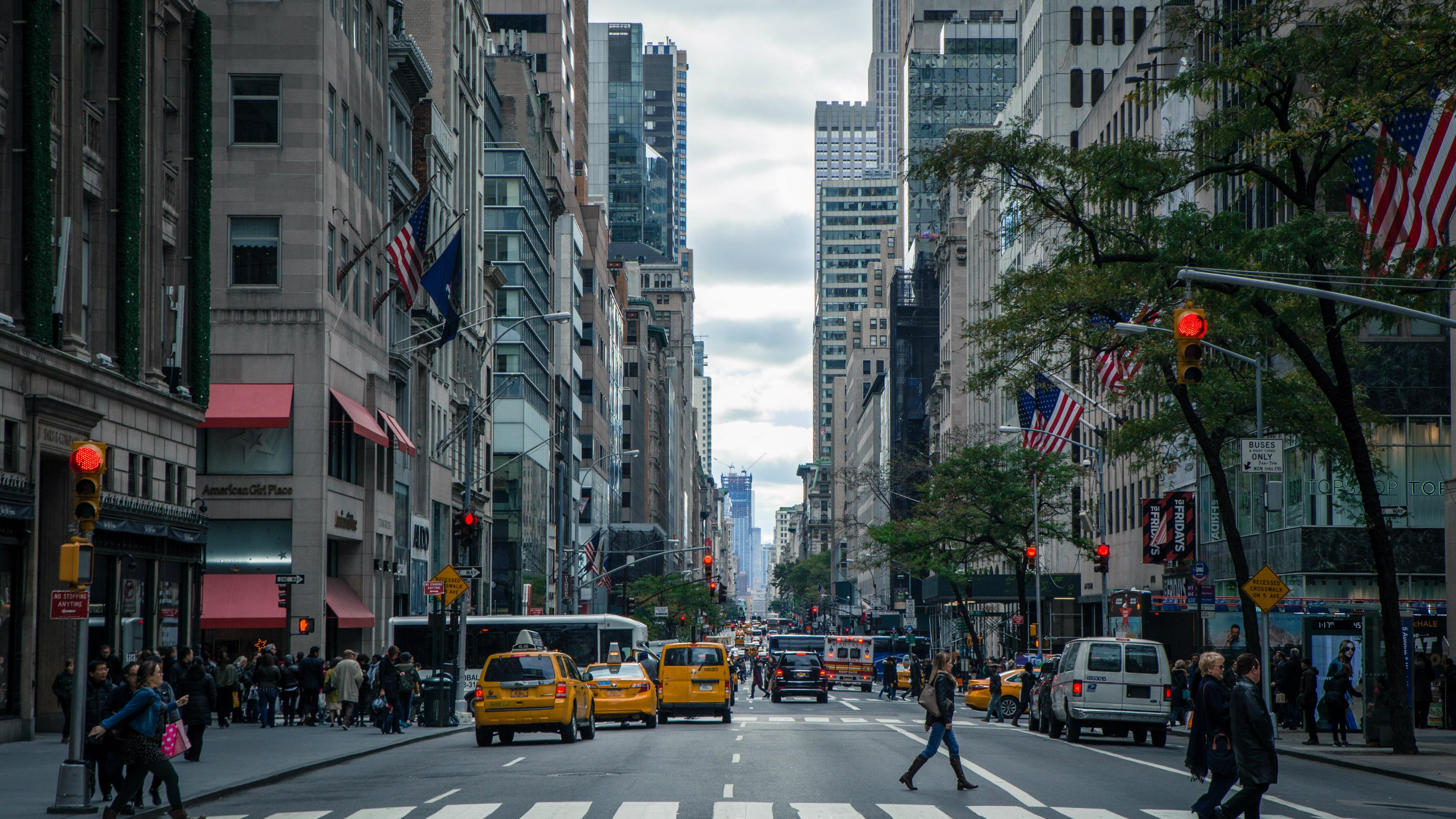 A New York street scene