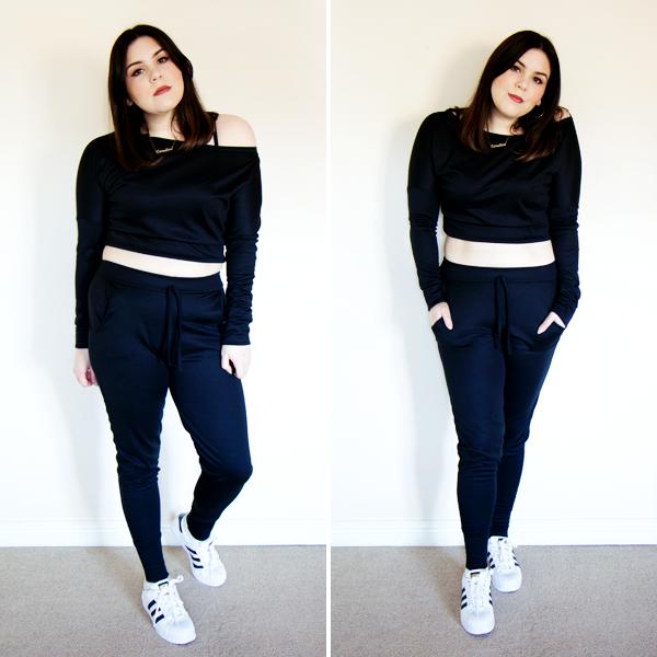 Femme Luxe Black Off Shoulder Loungewear Set
