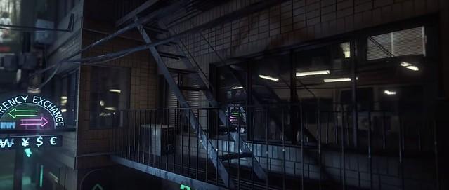 CryEngine Neon Noir - Reflets d'évacuation de feu