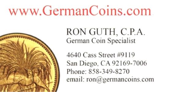 Guth E-Sylum ad01 German Coins