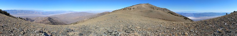 View from the Telescope Peak Trail where we could see both the highest and lowest points in the 48 states