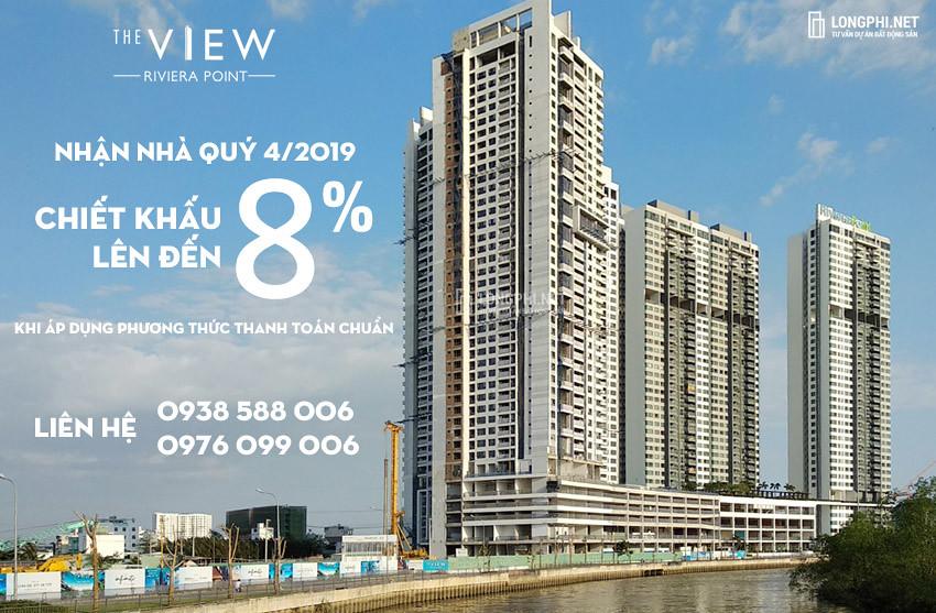 Chương trình bán hàng, chiết khấu, qua tặng căn hộ The View - Riviera Point tháng 3/2019 của Keppel Land.