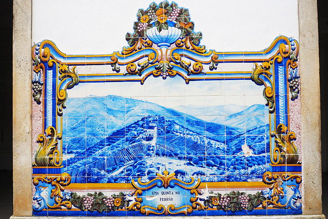 Tiles featuring Vine covered valleys, Douro Valley, Portugal