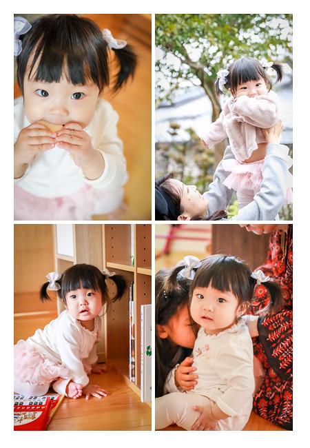 1歳のお誕生日を迎えた女の子