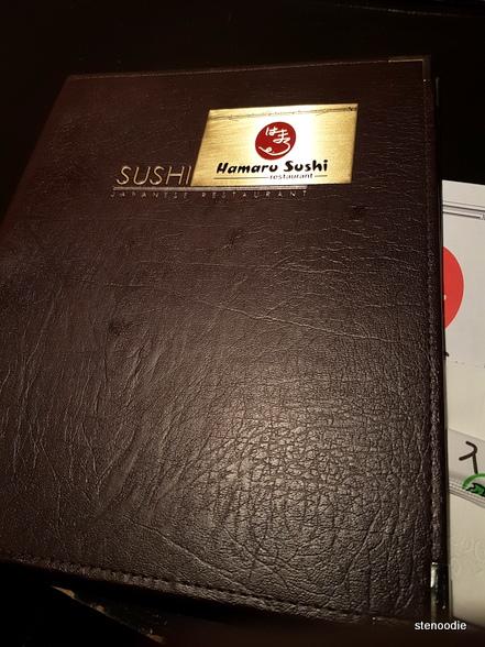 Hamaru Sushi menu cover