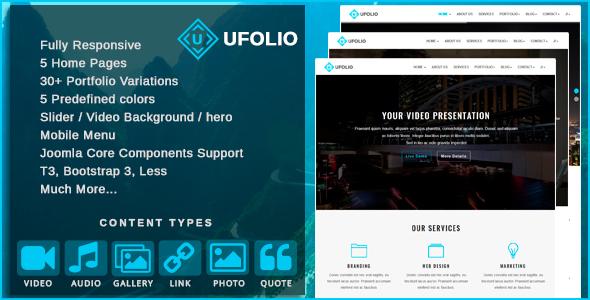 Ufolio v1.4 - Multipurpose & Portfolio Joomla Template