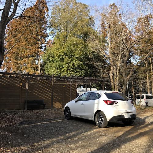 フォンテーヌの森キャンプ場 キャビン宿泊者用駐車場