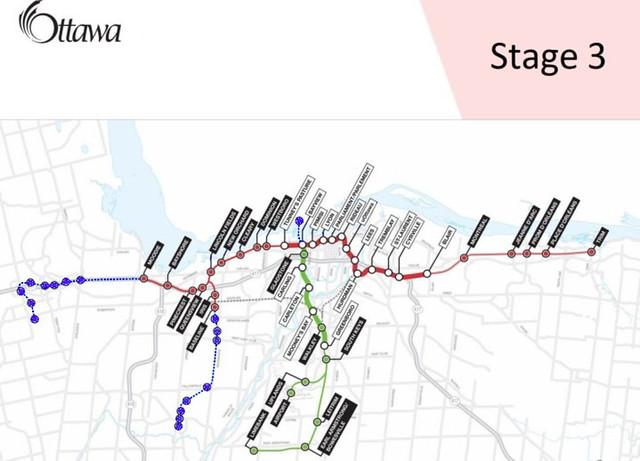 Ottawa Stage 3 LRT prospective map purple resize