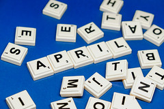 April text close up shot