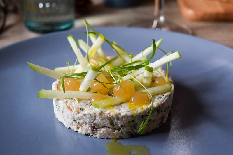 Mackerel Pate with Green Apple and Cider Jelly at The Duck Inn, Pett Bottom