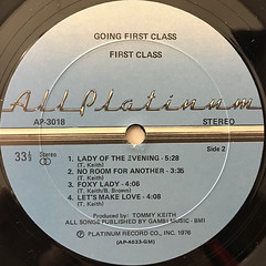 FIRST CLASS:GOING FIRST CLASS(LABEL SIDE-B)