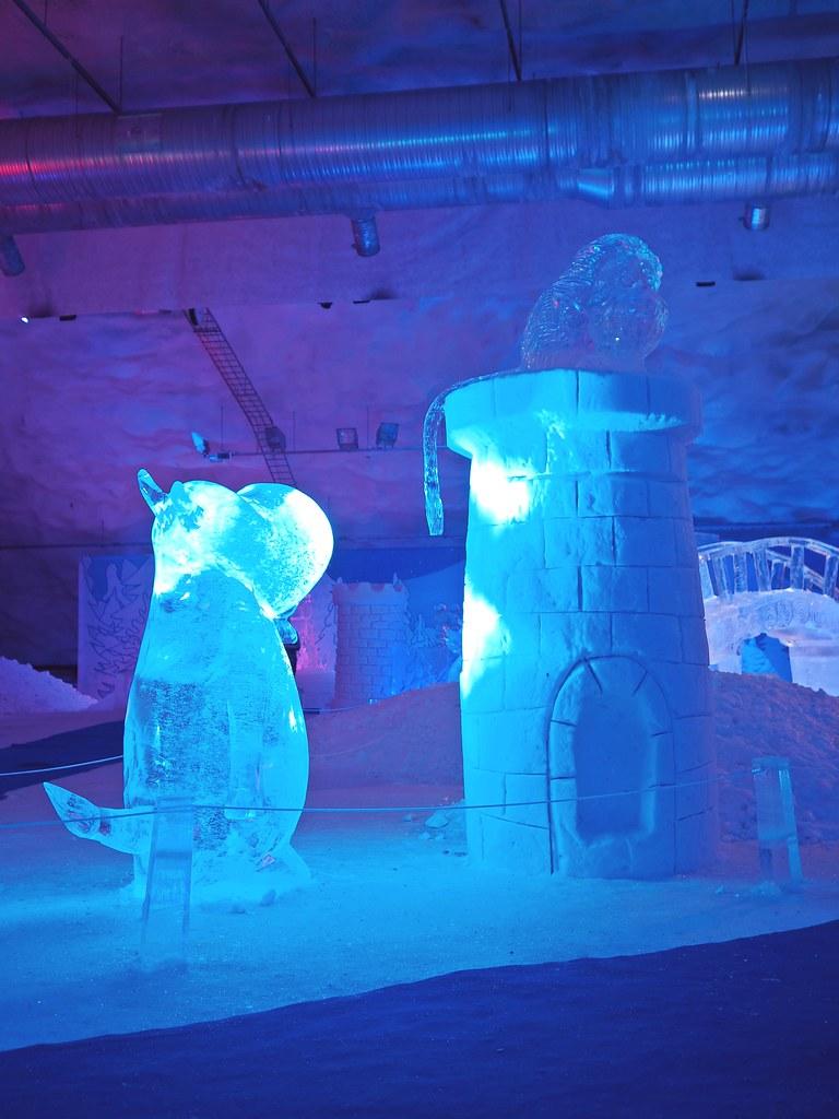 muumi jääveistosnäyttely