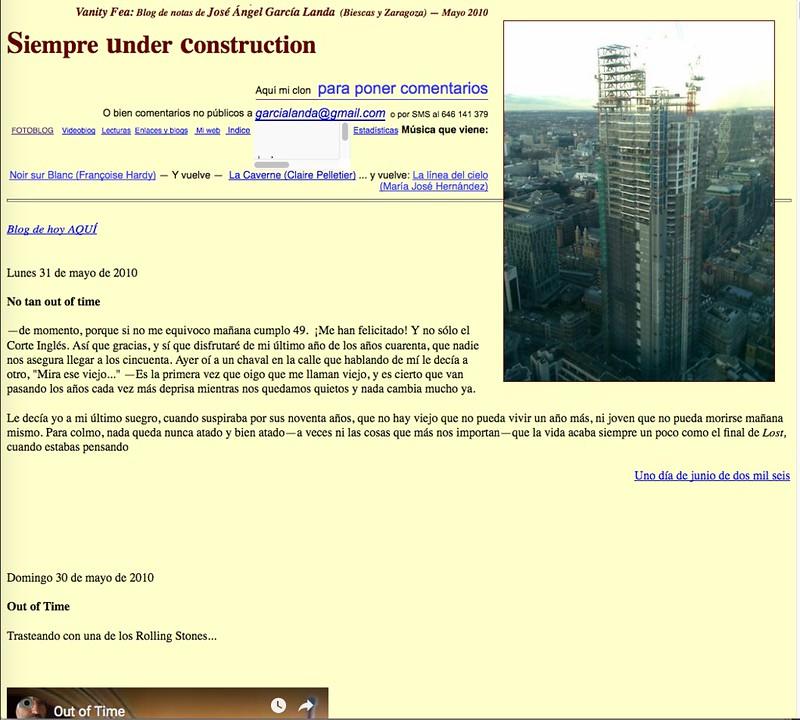 Siempre under Construction: Blog de notas de mayo de 2010