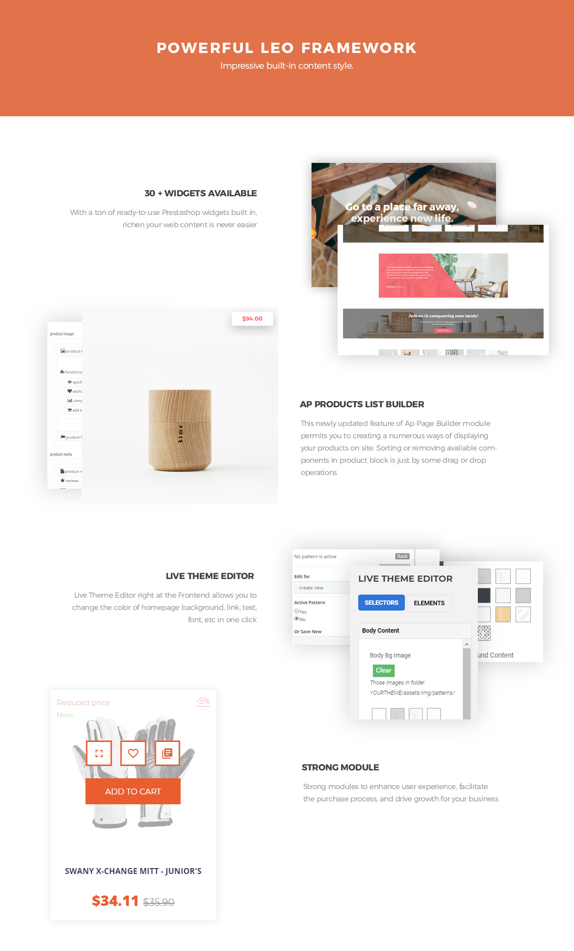 powerful framework - Bos Voyage - Furniture and Home Decor Prestashop Theme
