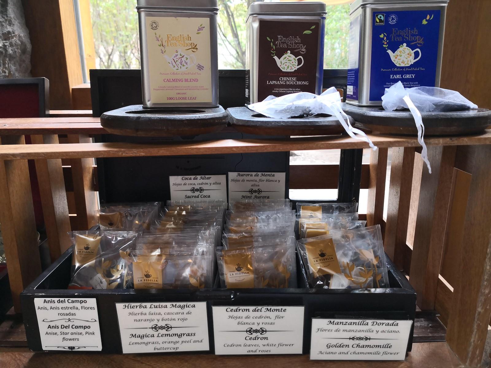 Variety of tea bags