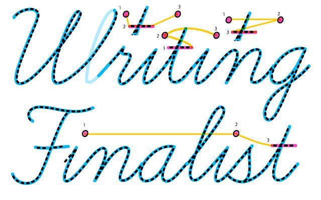 筆記体 書き方 点の書く順番 アルファベット 英語 英文
