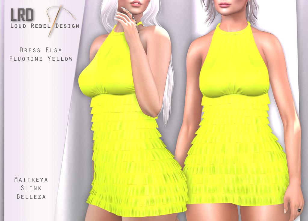LRD Dress Elsa Polka Fluorine Yellow - TeleportHub.com Live!