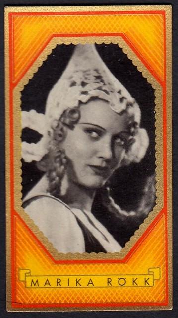 German Cigarette Card - Marika Rökk
