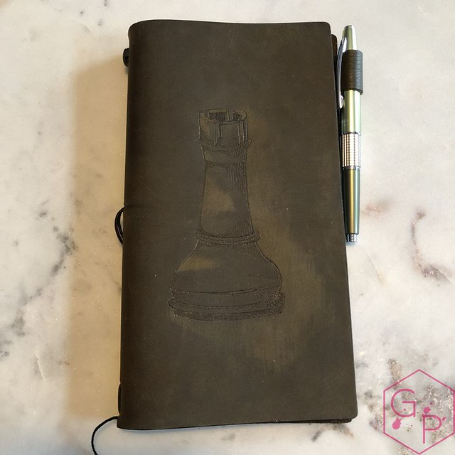 Toronto Pen Company Traveler's Notebook Leather Covers with Pyrography & Paintings 8