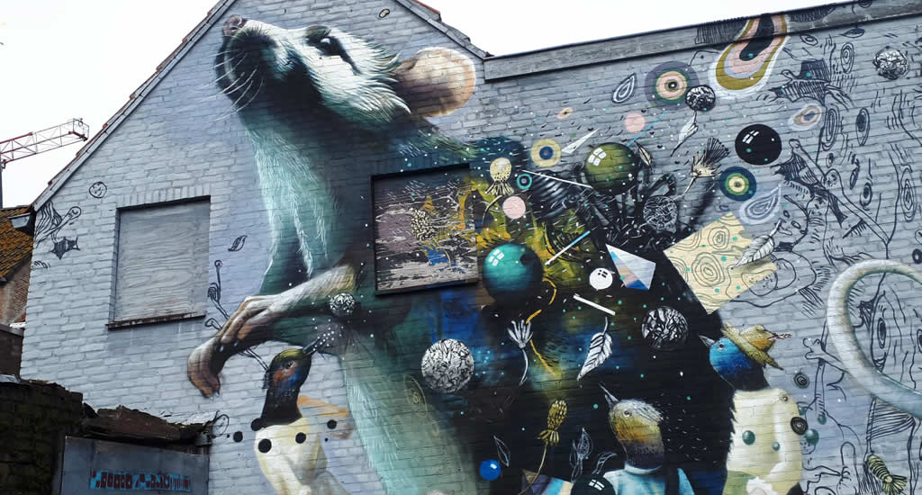 Street art in Breda, Blind Walls Gallery | Mooistestedentrips.nl