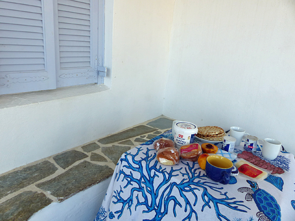 second petit dej à Naxos