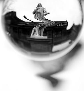Andrew Marvell statue lensball