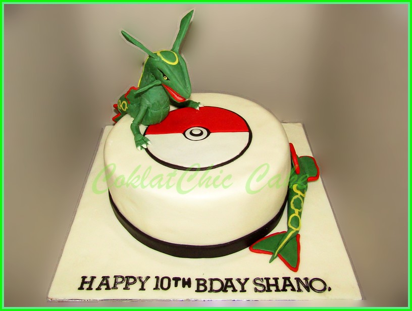 Cake Pokemon Rayquaza SHANO 22 cm