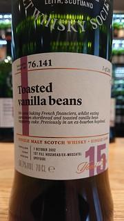 SMWS 76.141 - Toasted vanilla beans