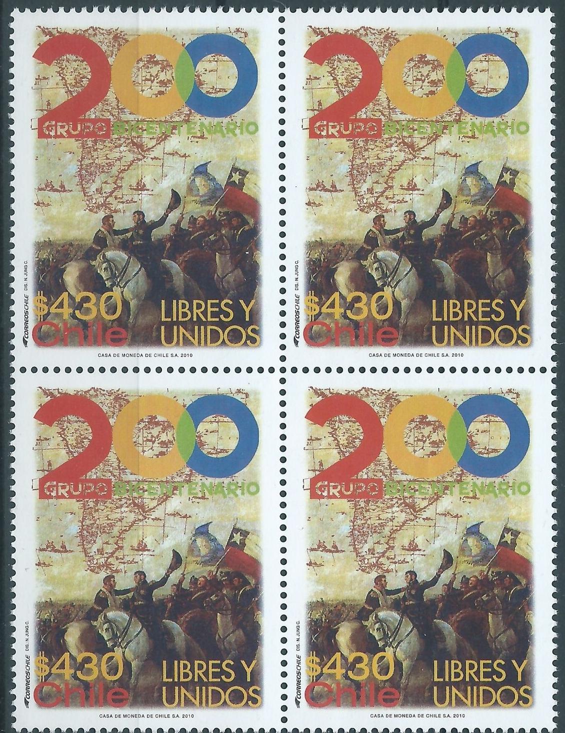 Chile - Scott #1555 (2010) block of 4