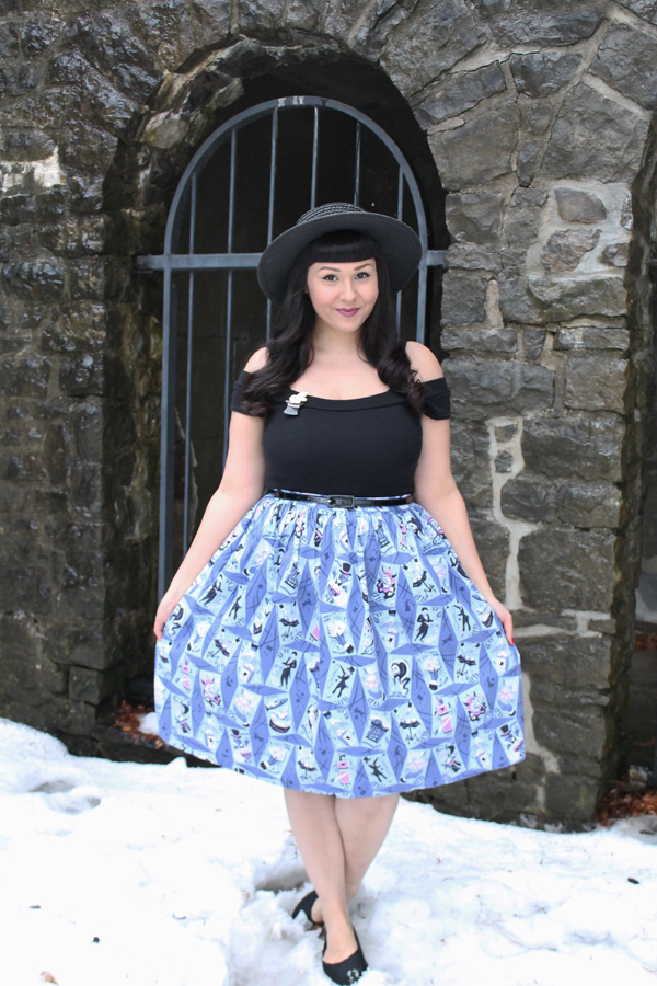 kitschy witch magic show skirt